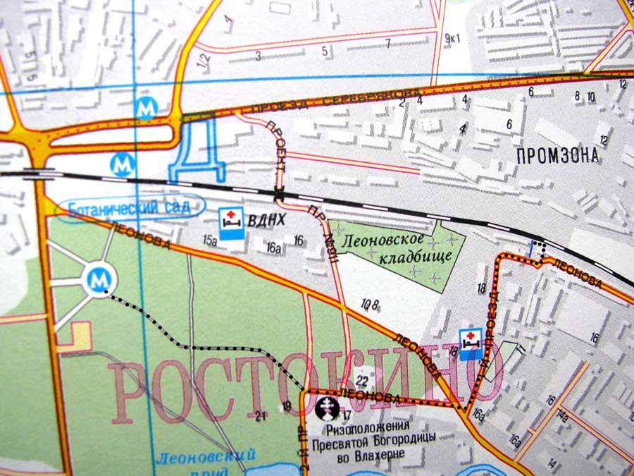 станция яуза на карте