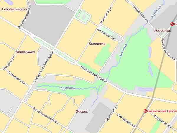 Котловка на современной карте москвы